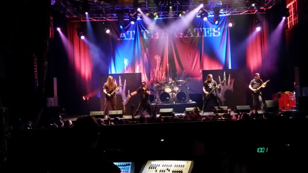 """""""At The Gates"""" performing at the Orlando House of Blues, February 11, 2016"""