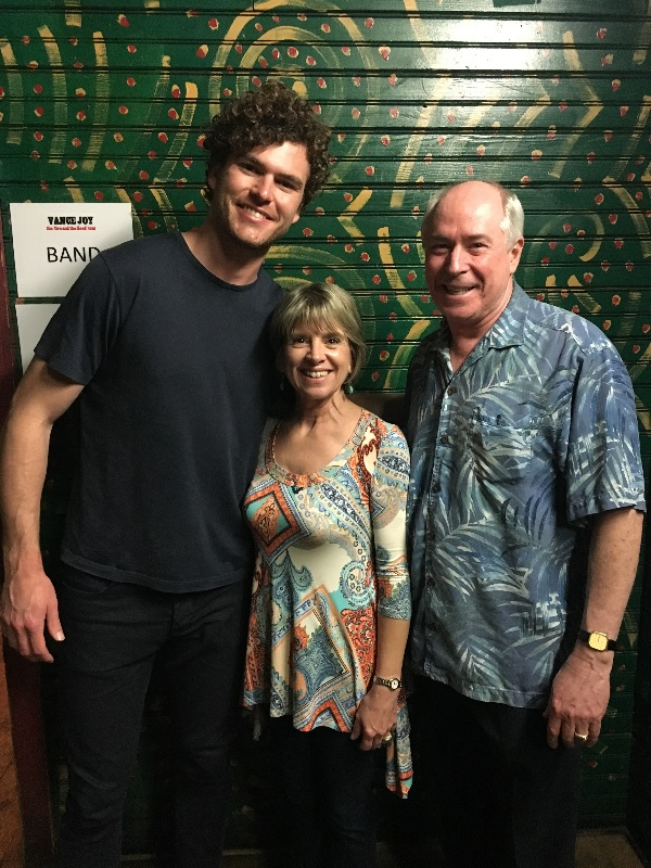 Vance Joy with Jackie and Frank Page